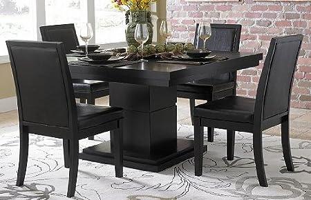 Homelegance Cicero 3 Piece Dining Room Set in Black