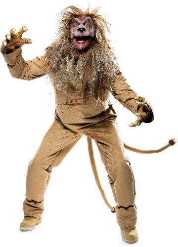 The Wicked of Oz Lion Adult Costume Size Medium