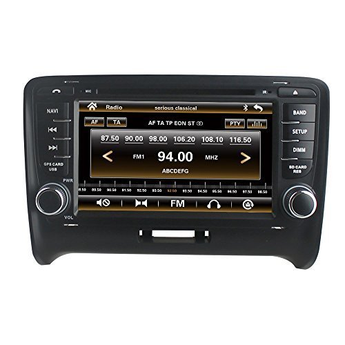 LIKECAR-7-Zoll-Autoradio-2-DIN-Multimedia-Sat-Navi-GPS-DVD-Navigationssystem-Touch-Screen-fr-AUDI-TT-mit-FM-AM-Radio-Dual-Zone-Ipod-MP3-MP4-Iphone-Blueooth-RDS-USB-SD-Lenkradkontrolle-Audio-Video-Ster