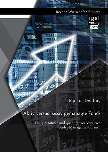 Aktiv versus passiv gemanagte Fonds: Ein qualitativer und quantitativer Vergleich beider Managementformen