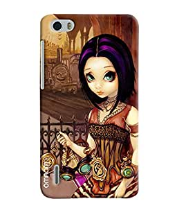 Omnam Girl With Vintage Items Selling Printed Designer Back Case Hauwei Honor 6