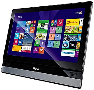 "MSI Adora20 2M-001XEU PC All In One, Schermo 19.5"" HD+ LED, Intel Core I3 4000M 2.4GHz, RAM 4GB, HD 500GB, Argento"