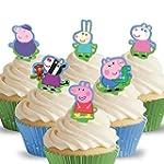 Cakeshop 12 x PRE-CUT Peppa Pig Stand...