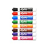 Expo 2 Low-Odor Dry Erase Markers, Chisel Tip, 8-Pack, Assorted