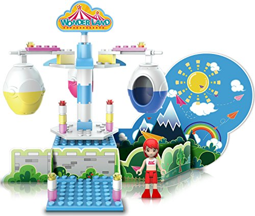Ztrend Wonderland Deco Cable Car Geared Motion Building Block Toy Set