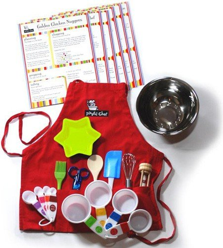 Playful Chef Deluxe Cooking Kit with Red Apron (Cooking For 1 Year Old compare prices)