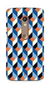 Amez designer printed 3d premium high quality back case cover for Motorola Moto X Play (Pattern 2)