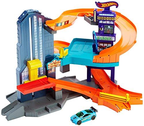 Hot Wheels Workshop Track Builder Speedtropolis Track Set (Meridian City)