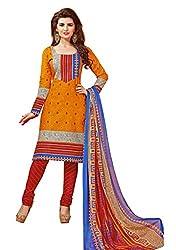 PADMiNi Ethnicwear Women's Dress Material Yellow 1006