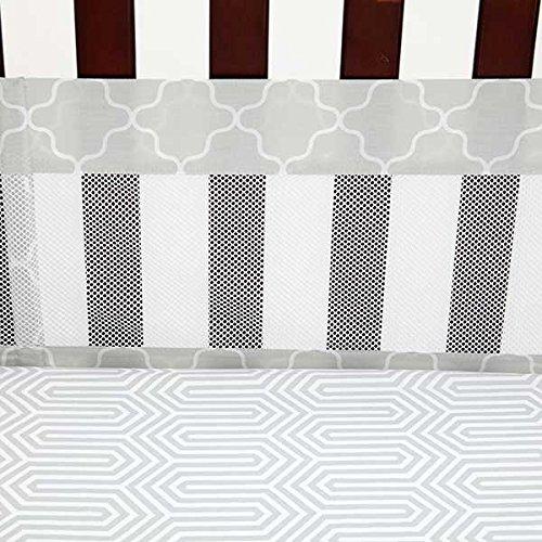 Safari Giraffe Secure-Me Mesh Crib Liner