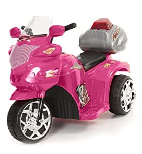 Xenta Pink 6V Ride On Police Trike