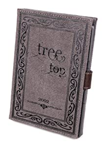"DURAGADGET Canvas ""Tree Top"" Style Kindle Book Case For New Amazon Kindle Paperwhite, Paperwhite 3G, Kindle Fire & Fire HD (Latest Generation, September 2012 Release) & Kindle 4"