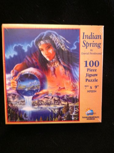 "Sunsout ""Indian Spring"" By David Penfound 100 Piece Jigsaw Puzzle"