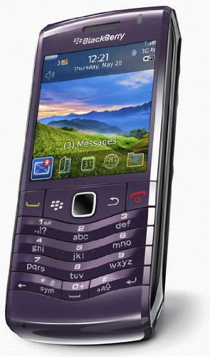 Blackberry 9105 Pearl 3G Purple Smartphone Mobile Phone on O2 Pay As You Go / PAYG / Pre-Pay (Including £10 Airtime)