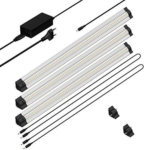 parlat-led-lampada-da-sottopiano-sirius-triangolare-50-cm-100-cm-cavo-400lm-bianca-calda-kit-di-3-la