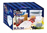 Lock & Lock HPL20BS 20-Piece Polypropylene Food-Storage Container Set