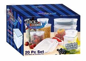 Lock & Lock HPL20BS 20-Piece Polypropylene Food-Storage Container Set