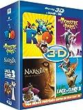 echange, troc Blu-ray 3D - Coffret 4 films : Rio + Un monstre à Paris + L'âge de glace 3 + Le monde de Narnia - Chapitre 3 [Blu-ray]