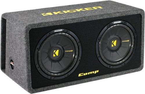"Kicker Dcomps102 (40Dcws102) Dual 10"" Comps Series Loaded Subwoofer Enclosure"