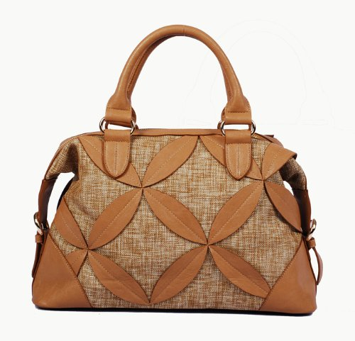Vieta Leatherette Floral Cut Out Tote Satchel Handbag Purse, Colors Available front-212132