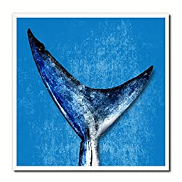 Shark Fish Modern Art 14626 Custom Framed Giclee Print on Canvas Nautical Beach Fishing Design Restaurant Home Wall Interior Decoration Souvenir Gift Ideas - Blue 10\