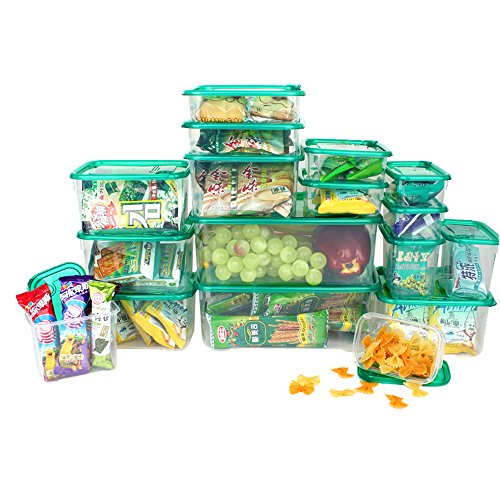 Ieasycan Plastic Storage Bowls Crisper Preservation Fruit Microwave Oven Lunch Bowls Food Seal 17pcs For Home Kitchenset (Fruit Containera compare prices)