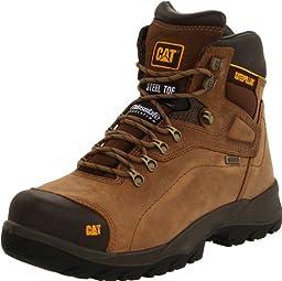 Caterpillar Men\'s Diagnostic Steel-Toe Waterproof Boot,Dark Beige,8.5 M US