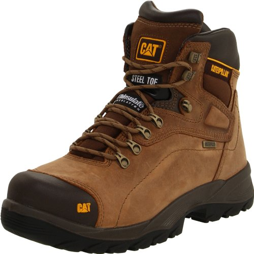 Caterpillar Men's Diagnostic Steel-Toe Waterproof Boot,Dark Beige,9 M US