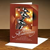Successories Happy Anniversary Trumpets 25-Pack Greeting Cards