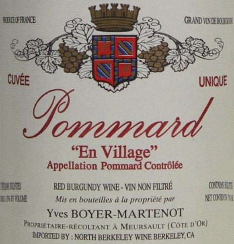 2009 Yves Boyer-Martenot Pommard En Village Burgundy Pinot Noir 750 Ml