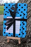 Light Blue Dotty Luggage Tag and Passport Cover Gift Set