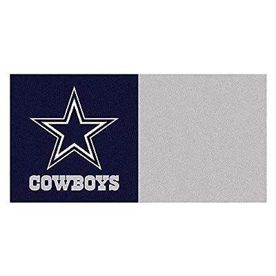 Fan Mats NFL Dallas Cow Carpet Tiles