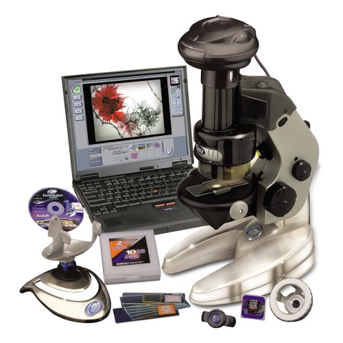 4-In-1 100X/200X/300X Power Computer Microscope With Metal Stand