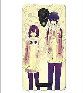 Fuson Love Couple Back Case Cover for XIAOMI REDMI NOTE 2 - D3686