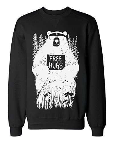 Cool Hipster Bear Offers Free Hugs Classic Sweatshirt Small