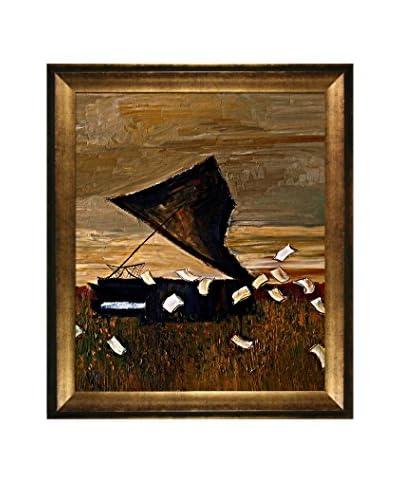 Justyna Kopania Piano Framed Canvas Print