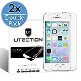 [2 Pack] UTECTION iPhone SE / 5s / 5 vetro temperato pellicola protettiva ultra clear & resistente - Premium glass protezione dello schermo - Touch compatible - 9H Hardness -98% Transparency   Clear