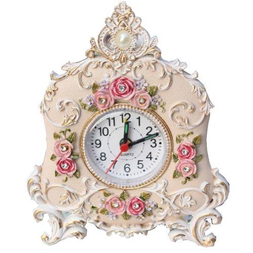 Rimobul Petite Floral Crown Shape Table Alarm Clock front-213149
