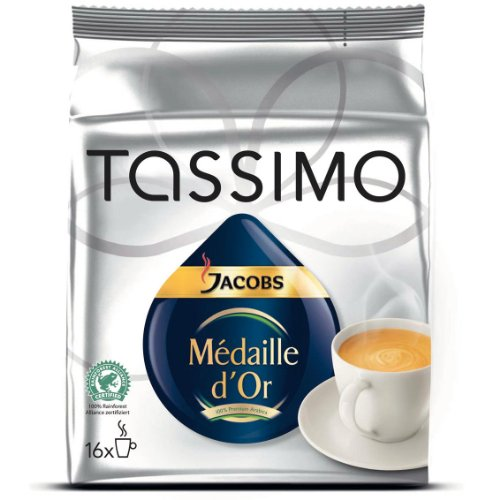Tassimo JACOBS Medaille D'Or Coffee (16 T-Disc)
