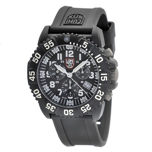 Luminox Men's 3081 Black Polyurethane Swiss Quartz Watch with Black Dial