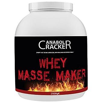 Whey Masse Maker, Gainer Eiweißpulver, 2500g Dose, Vanille Geschmack, Proteinshake, Muskelaufbau Kohlenhydrate