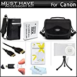 Must Have Accessory Kit For Canon PowerShot SX500 IS, SX510 HS, SX520 HS, SX530 HS Digital Camera Includes Extended Replacement (1200maH) NB-6L Battery + Ac/Dc Charger + Mini HDMI Cable + Case + More