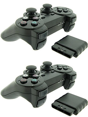 2x For Sony PS2 2.4G Wireless Twin Shock Game Controller Joystick Joypad (Sony Ps2 Wireless Controller compare prices)