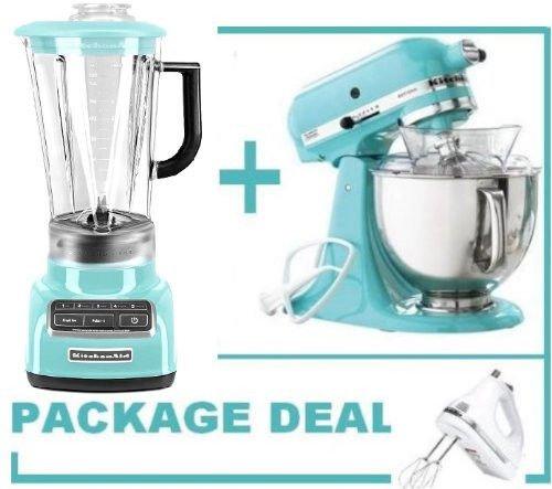 Kitchenaid Martha Stewart Blue 5-speed Blender & Stand Mixer+hand Mixer Free