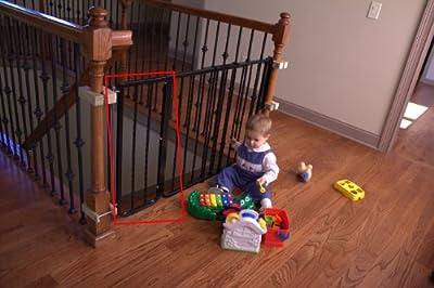 "Cardinal Gates Extension for Wrought Iron Decor Gate, Black, 10.5"""