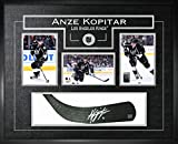 Anze Kopitar - Signed & Framed Stick Blade with 3 Kings Photos