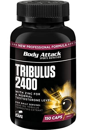 Body Attack Tribulus Terrestris 2400, 150 Kapseln, 1er Pack (1x 205g), Dose