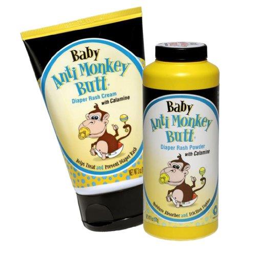 Baby Anti-Monkey Butt Diaper Rash Powder & Cream