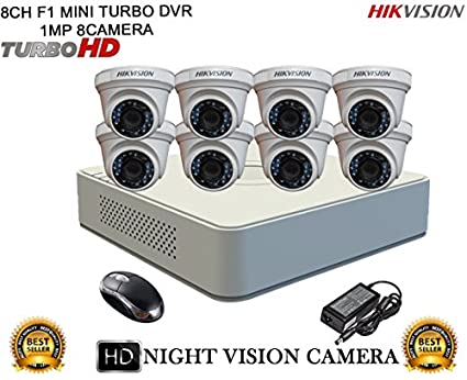 Hikvision-DS-7108HGHI-F1-Mini-8CH-Dvr,-8(DS-2CE56COT-IRP)-Dome-Cameras-(With-Mouse)