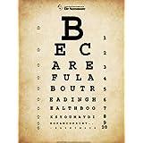 Twain Eye Chart, Art Poster